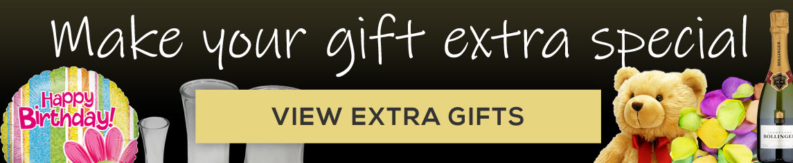 Make your rose gift even more special with our range of extras