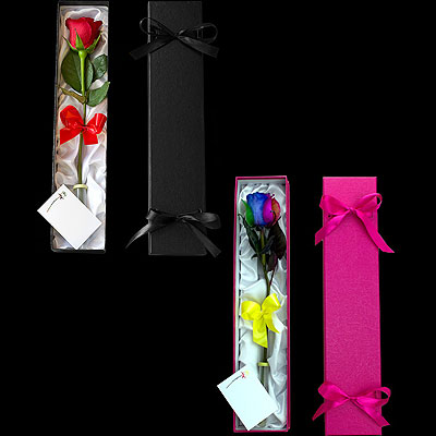 Single rose presented in a Luxury Black Box