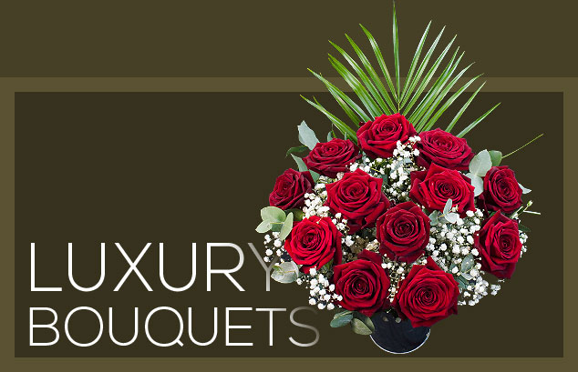 Our luxury Grand Prix rose bouquet