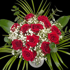 An example of a Bouquet of 12 Extra Luxury Red and Pink Roses