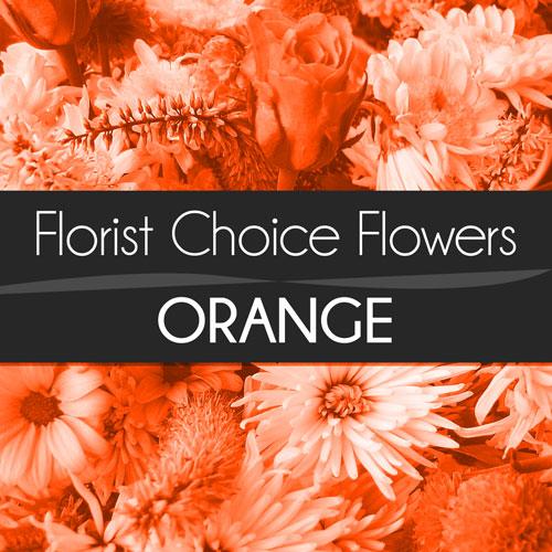Orange Florist Choice Bouquet