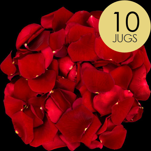 10 Jugs of Red Rose Petals