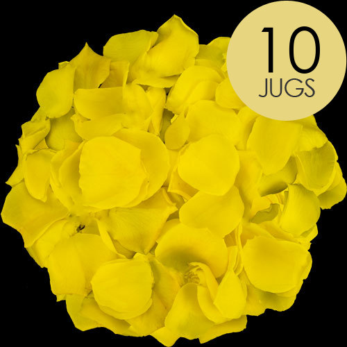 10 Jugs of Yellow Rose Petals