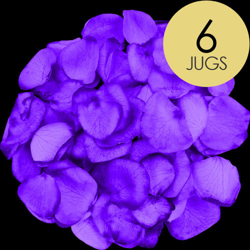 6 Jugs of Purple Rose Petals