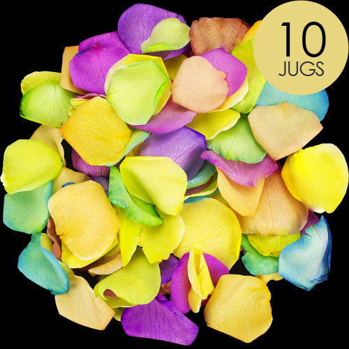 10 Jugs of Happy Rose Petals