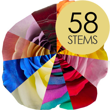 Click to view product details and reviews for 58 Special Offer Rainbow Roses.