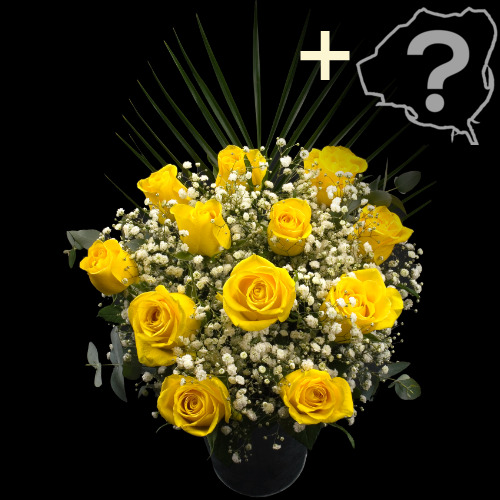 11 YELLOW and 1 Luxury Rose Bouquet