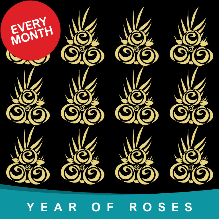 Year of Rose Bouquets every month