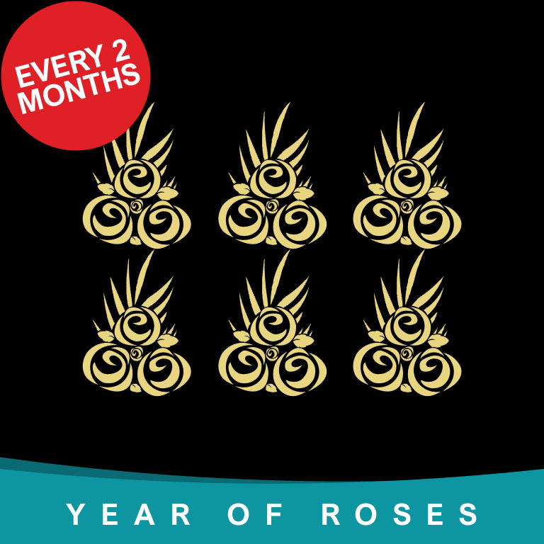 Year of Rose Bouquets every 2 months