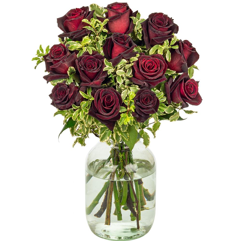 Flowers 12 Black Baccara Roses